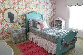 Brothers Bedding Lena U0027s Bedroom Makeover Floral Wallpaper Sincerely Sara D