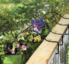 wooden deck railing planters med art home design posters