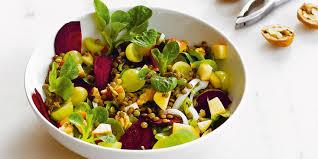 cuisine lentilles vertes salade de lentilles vertes façon petit salé recettes femme actuelle