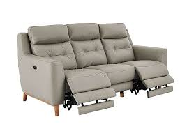 Recliner 3 Seater Sofa Compact Collection Bijoux 3 Seater Leather Recliner Sofa