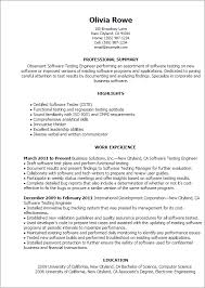 Resume Templates For Applications Professional Software Testing Templates To Showcase Your Talent