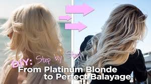 best way to blend gray hair into brown hair diy from blonde to the perfect balayage easy to follow at home