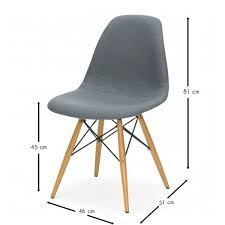 chaise eames grise chaise eames dsw style cover meubles design chaises design