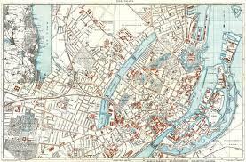 map of copenhagen map of copenhagen københavn in 1910 buy vintage map replica
