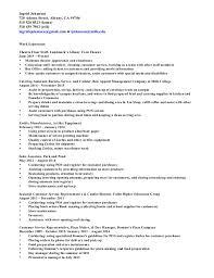 Movie Theatre Resume Resume May 2016