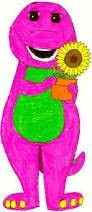 barney holding a flower pot by bestbarneyfan on deviantart