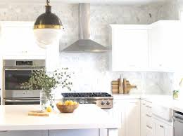 black white and brass kitchen makeover