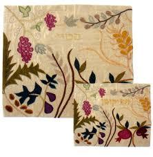 matzah cover and afikomen bag set seven species matzah cover and afikomen bag passover
