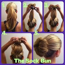 sock bun hair hairstyle foк women