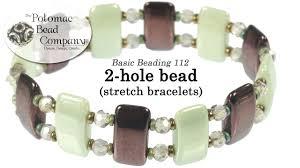 how to make stretch bracelets with 2 hole beads youtube