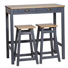 table haute cuisine bois table bar haute hiba la redoute interieurs mesa barra 5 de mange