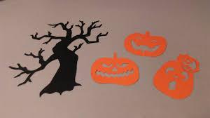 orange halloween tree halloween cutouts spooky tree scary pumpkins halloween