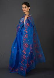 dhakai jamdani blue dhakai jamdani