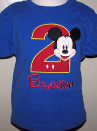 mickey mouse birthday shirt boys mickey mouse number birthday shirt or onesie more color
