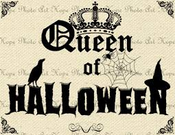 halloween greeting cards queen of halloween digital collage sheet image transfer burlap