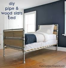 ana white build a pipe and wood slat bed free and easy diy