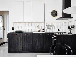 kitchen design ideas black and white kitchen with brass details