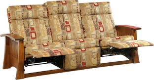 craftsman mission wallhugger sofa recliner indiana amish