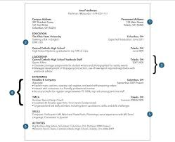 high activities resume template sample resume college