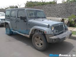 diesel jeep wrangler jeep wrangler grand cherokee test mules in india