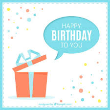 happy birthday cards for happy birthday card with a present vector free