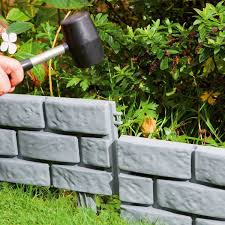 plastic garden edging ideas brick parkland instant brick effect hammer in plastic garden lawn edging