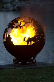 Sphere Fire Pit by Woodland Fire Pit Fire Pit Ideas