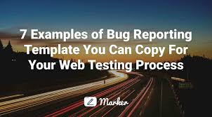 bug report template excel report template examples software