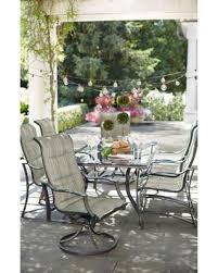 Sling Patio Dining Set Shopping Deals On Statesville 7 Padded Sling Patio
