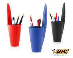Desk Pen Holder Based On The Iconic Bic Pen This Pen Holder Provides A Home For