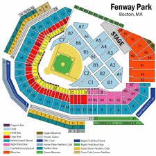 fenway park seating map fenway park end stage seating chart fenway park end stage tickets