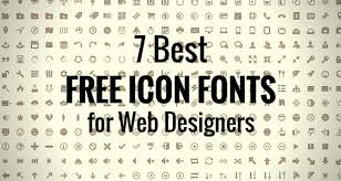 best free 7 best free icon fonts for web designers design roast