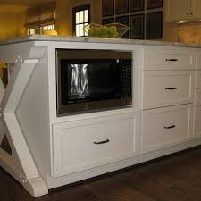 microwave in kitchen island microwave in island design ideas