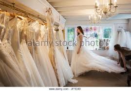 display wedding dress wedding dress on display stock photos wedding dress on display