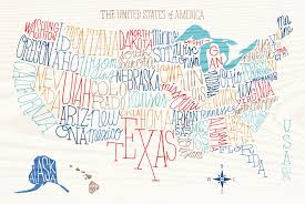 United States Map Wall Art by Hand Lettered Us Map Wall Mural U0026 Hand Lettered Us Map Wallpaper