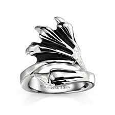 men ring antique stainless steel claw mens ring