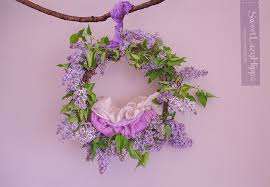 digital backdrops wreath of fresh flowers of lilac newborn digital backdrop sweet