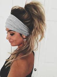 hairstyles with headbands foe mature women gray scrunch headband extra wide headband turban headband