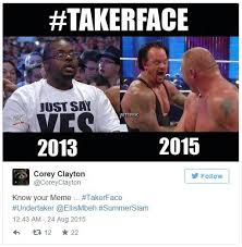 Undertaker Memes - takerface undertaker s screaming face know your meme