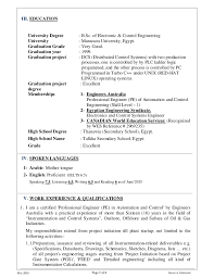 Instrumentation Project Engineer Resume Resume U0026 Certificates Yasser M Instrumentation U0026 Control Engr No U2026