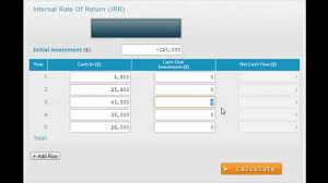 free online calculator calculate irr with the free online irr calculator youtube