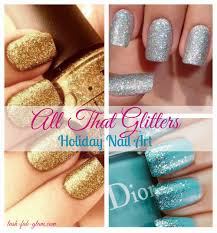 lush fab glam blogazine all that glitters holiday nail art designs
