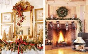 christmas decorated fireplaces cheminee website