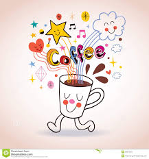 cartoon coffee cup cute character stock photography image 36076672