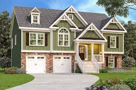 plan 75412gb handsome split level home house plans home and