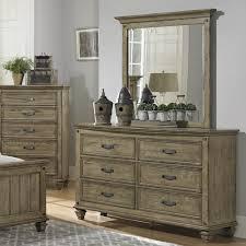 Bedroom Furniture Oak Veneer Homelegance Sylvania 6 Drawer Dresser In Oak Veneered Driftwood