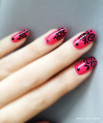 nail art rose nail paint pinterest
