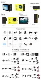aliexpress com buy eken h9 wifi action camera free selfie