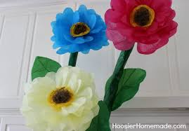 Make Flower With Paper - how to make giant tissue paper flowers hoosier homemade