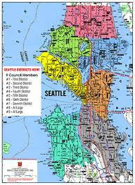 seattle map by district seattle districts now